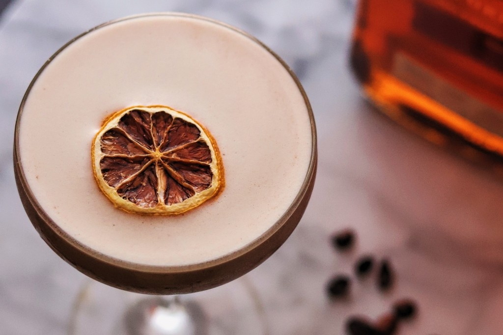 Liberica Espresso Whisky Sour, Coffee Cocktail with Woodford Reserve