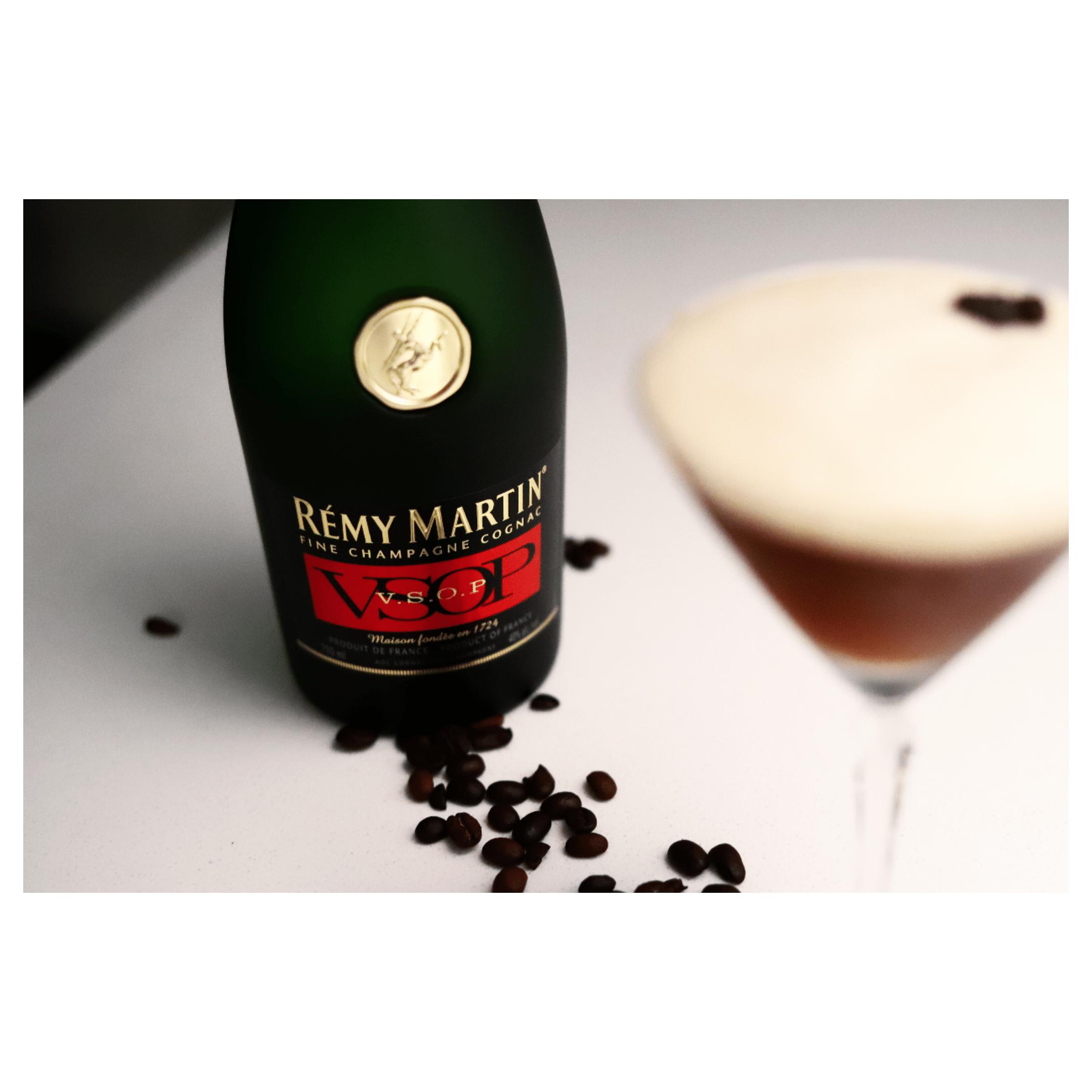 Cognac Espresso Martini, Liberica Cognac Espresso Martini, Remmy Martin and LeClair Organics