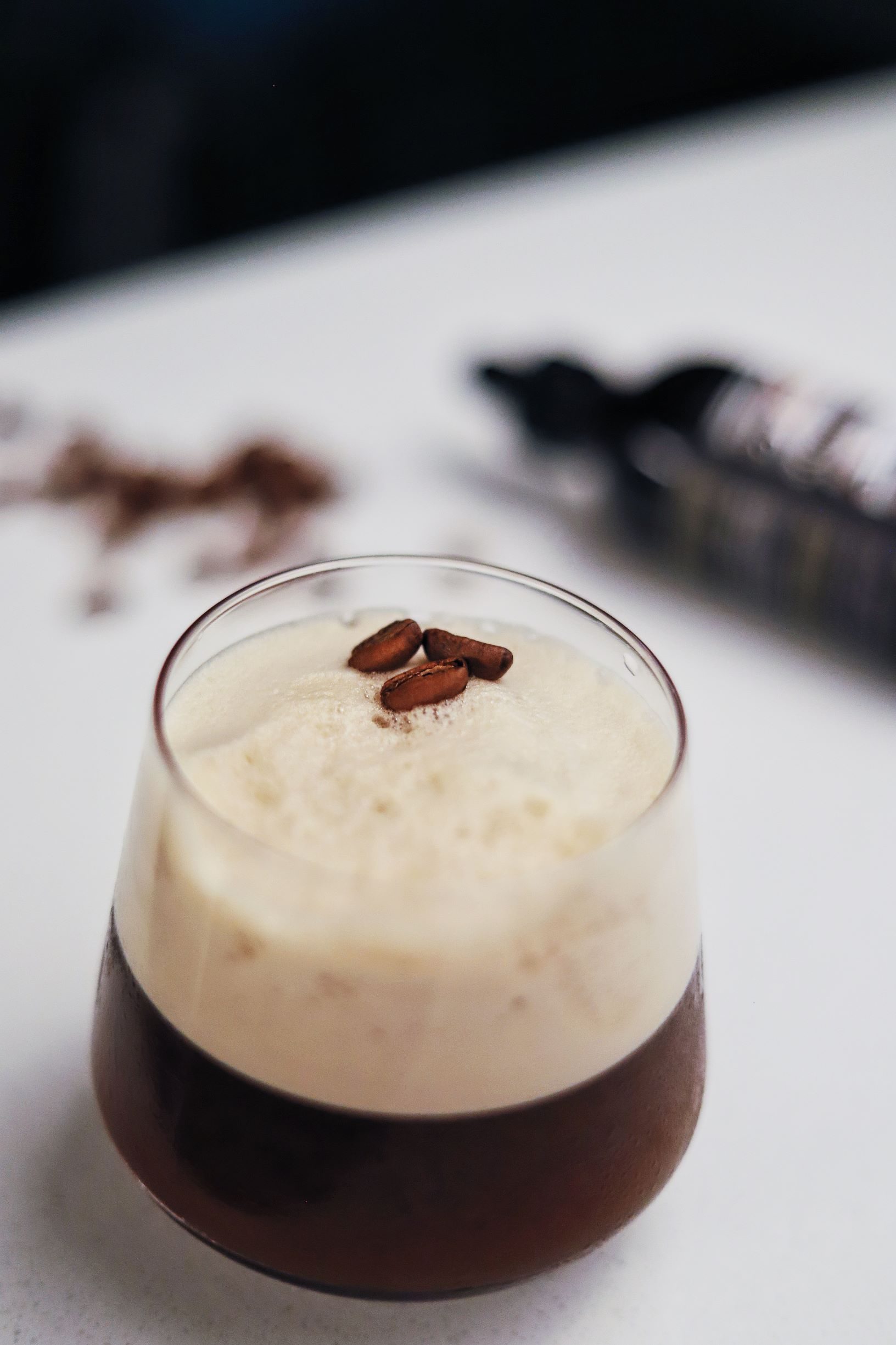 LeClair Organics Coffee Vancouver, Liberica Coffee Cocktail using vancouver whisky and Bittered Sling malagasy chocolate bitters