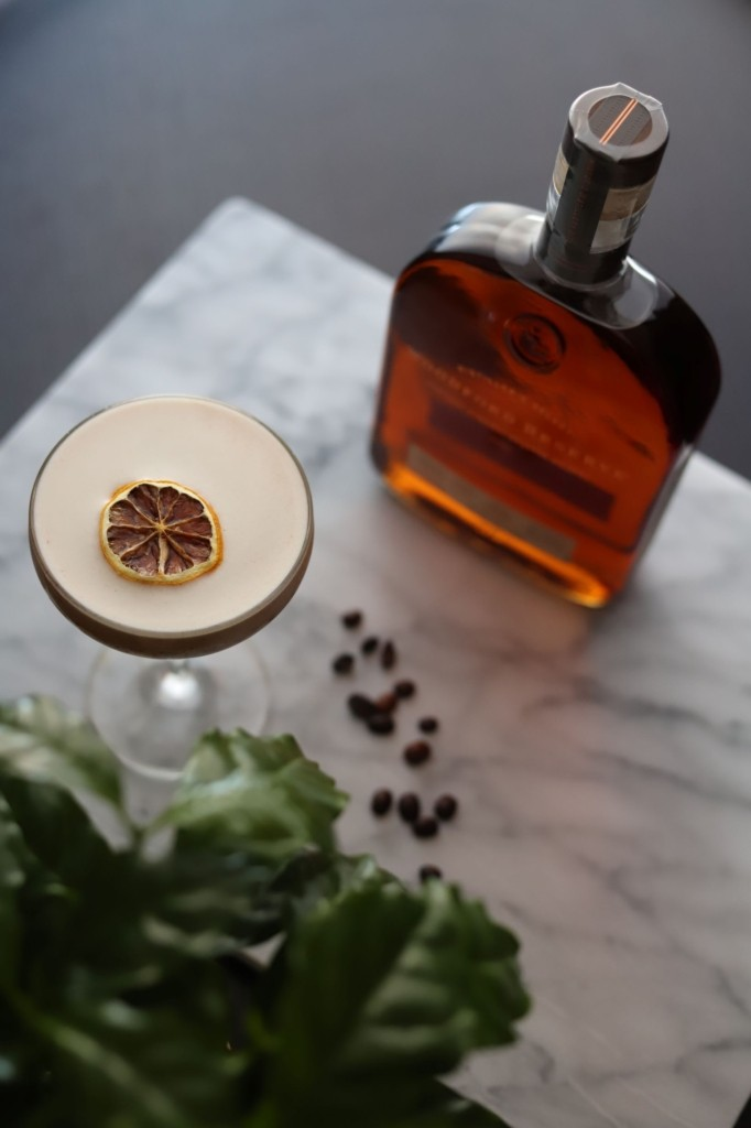 LeClair Organics Liberica Espresso Whisky Sour, Coffee Cocktail with Woodford Reserve