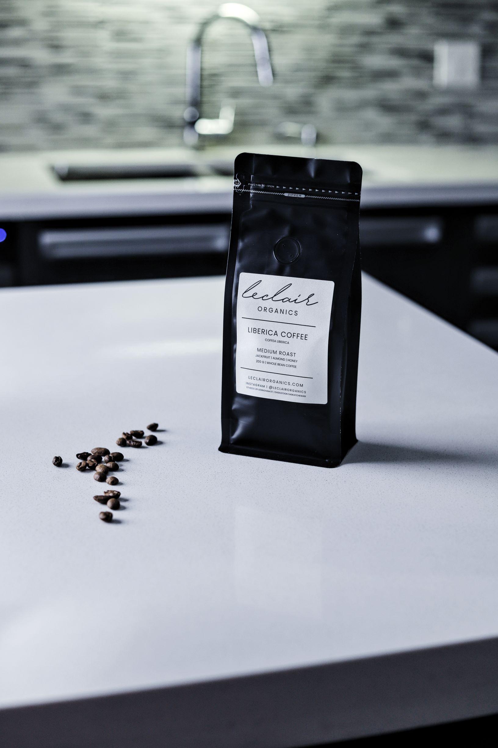 LeClair Organics Saskatoon Founded, Liberica Coffee bag, use in espresso martini recipes