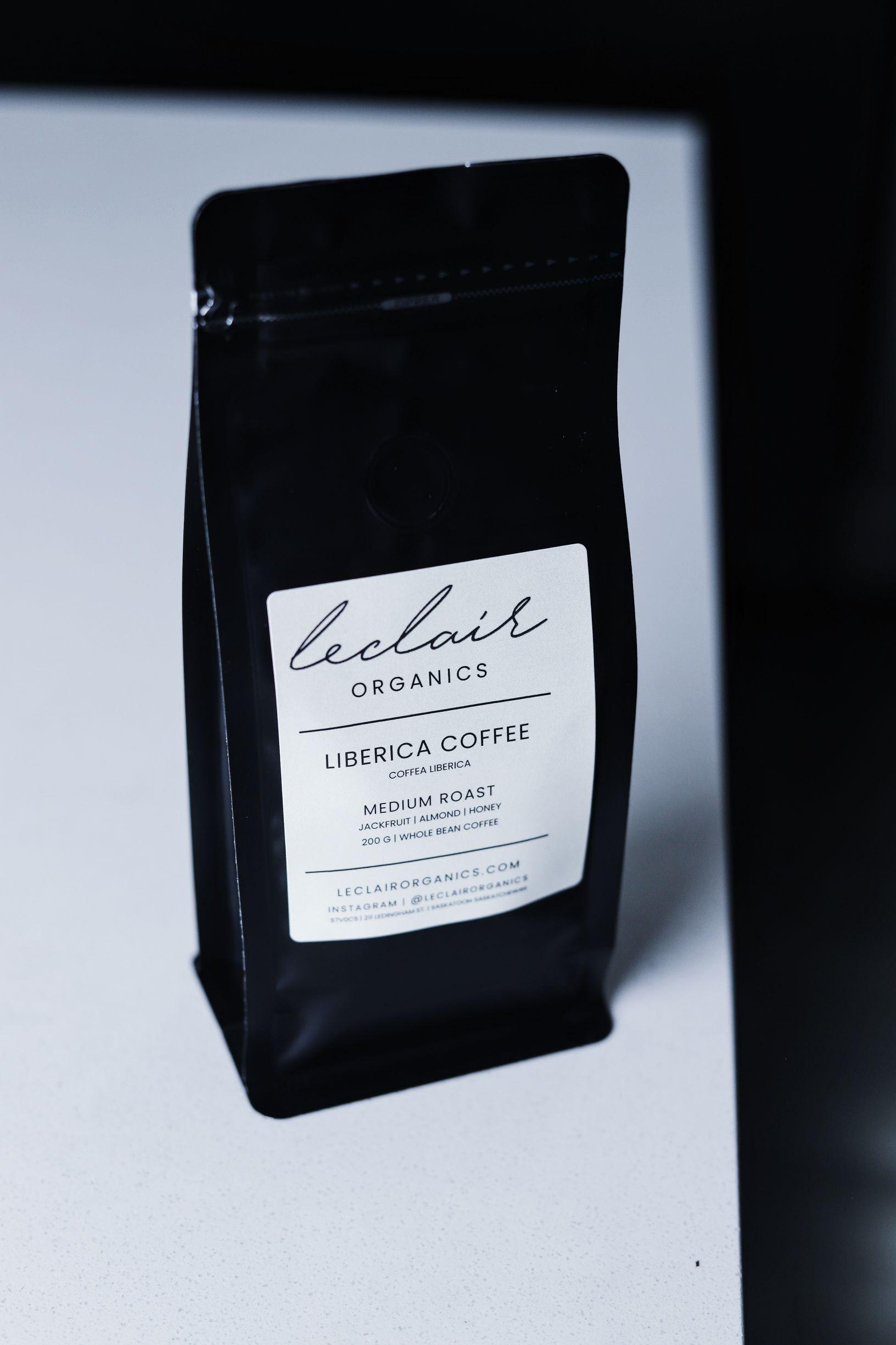 LeClair Organics Liberica Coffee bag, use in espresso martini recipes 2