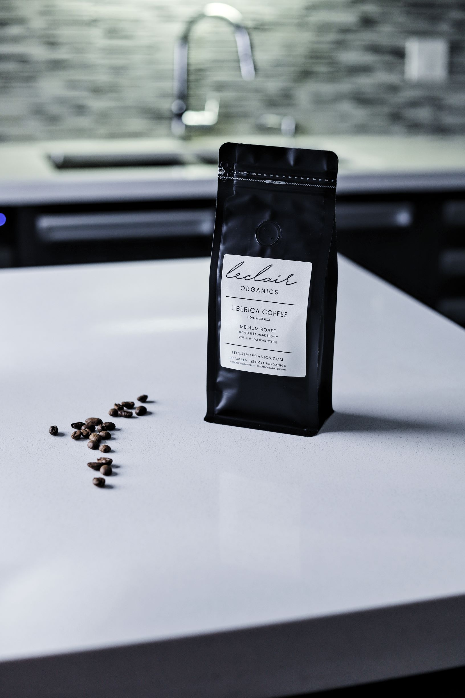 LeClair Organics Liberica Coffee bag, use in espresso martini recipes, Canada
